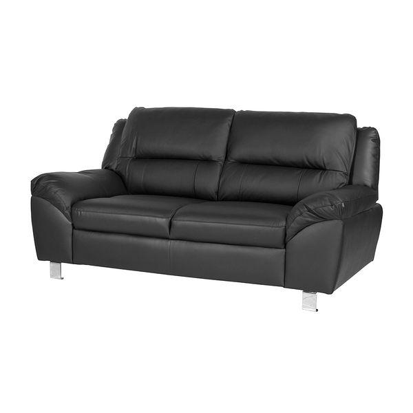 Sofa-2-Ptos-Battley--Cuero--Pvc-Negro-
