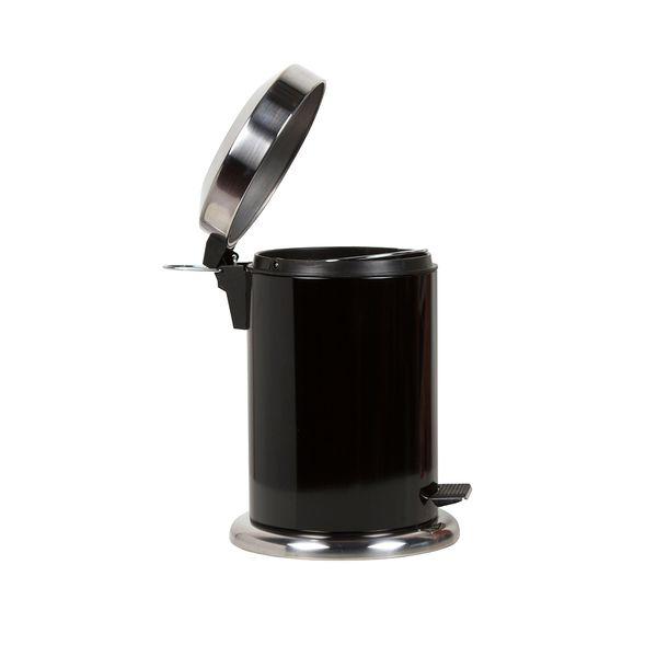 Papelera-Pedal-3Lt-17-28Cm-Metal-Plastico-Negro-------------
