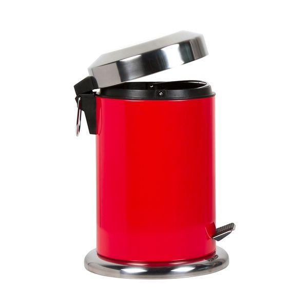 Papelera-Pedal-3Lt-17-28Cm-Metal-Plastico-Rojo--------------