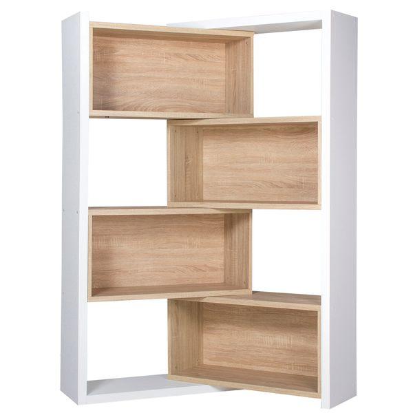 Biblioteca-Esquinera-Zigzag-85-29-167Cm-Lam-Natural-Blanco--