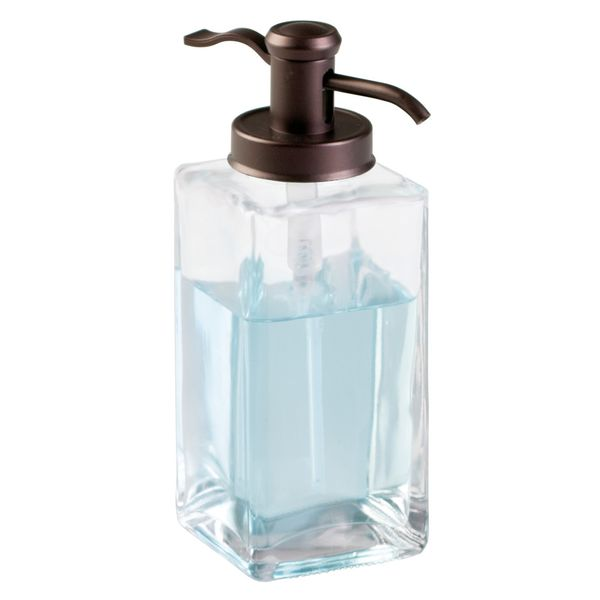 Dispensador-Jabon-Casilla-10-10-7Cm-Vidrio-Transparen-Bronce