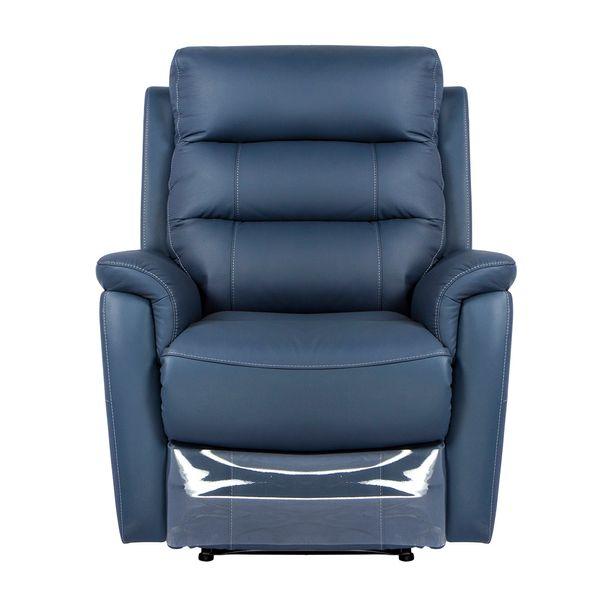 Poltrona-Reclinable-Electrica-Basilea-Cuero-Pvc-Azul--------