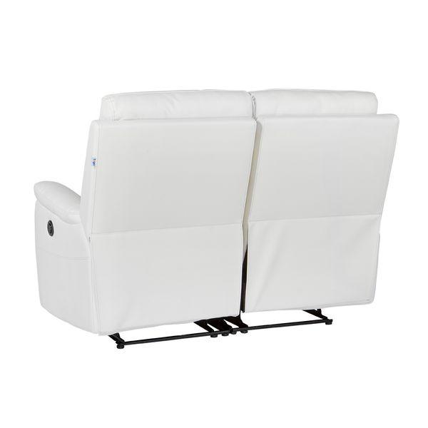 Sofa-2-Puestos-Reclinable-Electrica-Basilea-Cuero-Pvc-Blanco