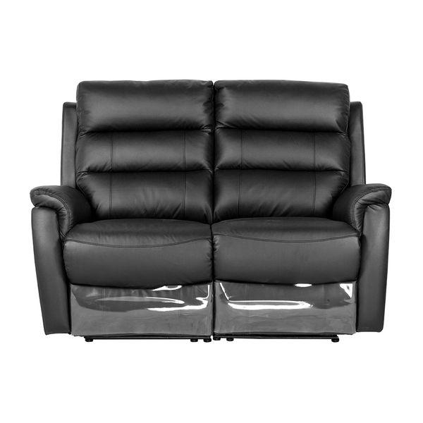 Sofa-2-Puestos-Reclinable-Electrica-Basilea-Cuero-Pvc-Negro-