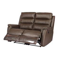 Sofa-2-Puestos-Reclinable-Electrica-Basilea-Cuero-Pvc-Cafe--