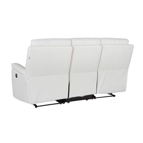 Sofa-3-Puestos-Reclinable-Electrica-Basilea-Cuero-Pvc-Blanco