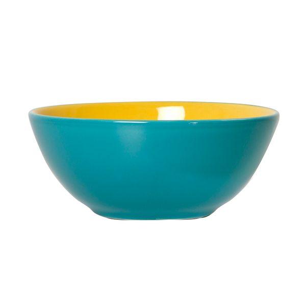Bowl-Bicolor-16Cm-Ceramica-Turquesa-Amarillo