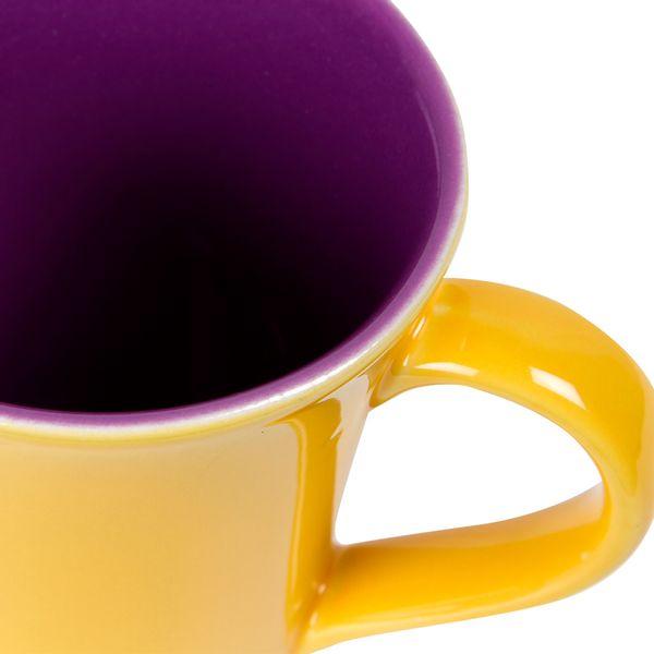 Mug-Bi-Tulipa-300Ml-Ceramica-Amarillo-Morado