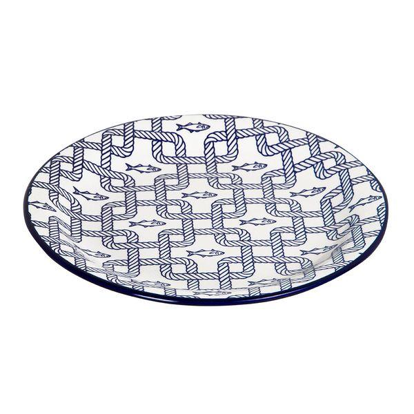 Plato-Postre-Nautico-20Cm-Ceramica-Azul