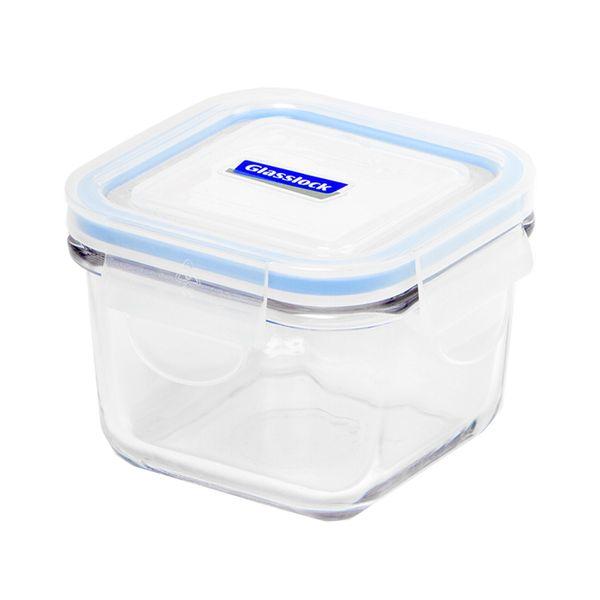 Contenedor-Cuadrado-Glasslock-215Ml-Vidrio-Templ-Tapa-Azul--
