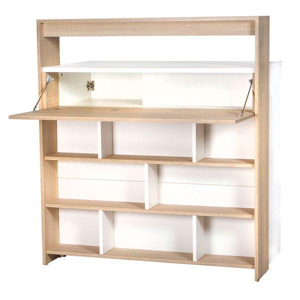 Biblioteca-Key-130-59-115-Cm-Lam-Natural-Blanco-------------