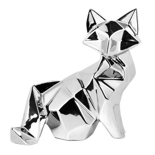 Figura-C17-Zorro-Niza-20-11-20.5Cm-Ceramica-Plata
