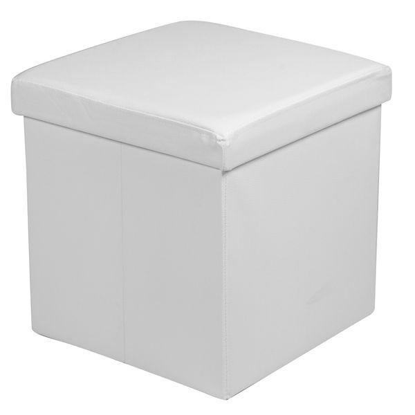 Puff-Cuadrado-Sada-40-40-40Cm-Cuero-Sintetico-Blanco--------