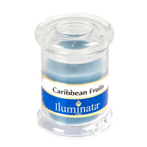 Vela-Vaso-50Gr-Caribean-Fruit-5.8-5.8-7.5Cm-Parafina-Azul---
