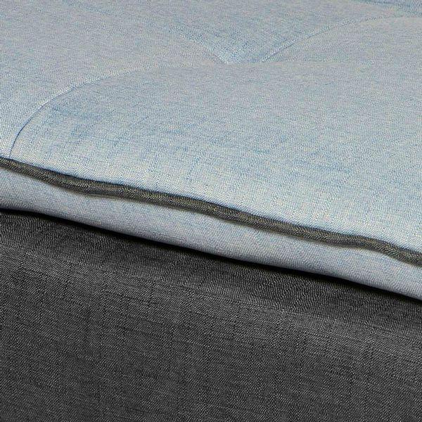 Sofacama-Click-Clack-Lite-Base-Gris-Oscuro-Cojin-Azul-Claro-