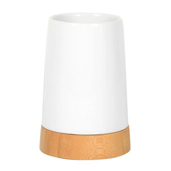 Vaso-Baño-Natural-8-8-11Cm-Ceramica-Blanco-Bamboo-----------