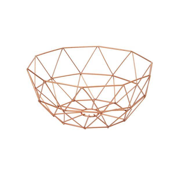 Canasta-Organizadora--Kant-30-30-12Cm-Metal-Cobre-----------
