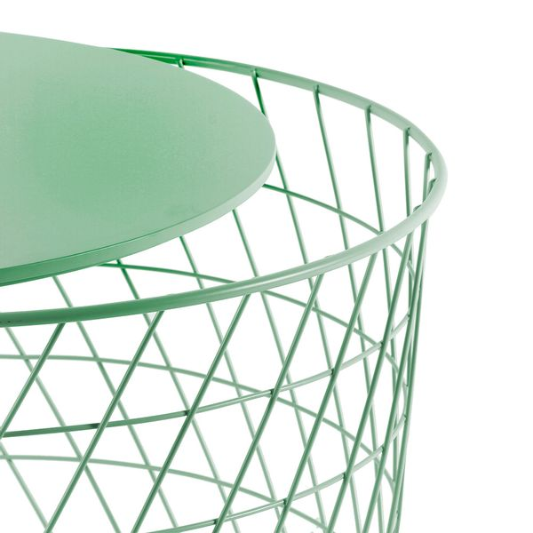 Mesa-Auxiliar-Basket-Diam-60Cm-Metal-Madera-Menta-----------
