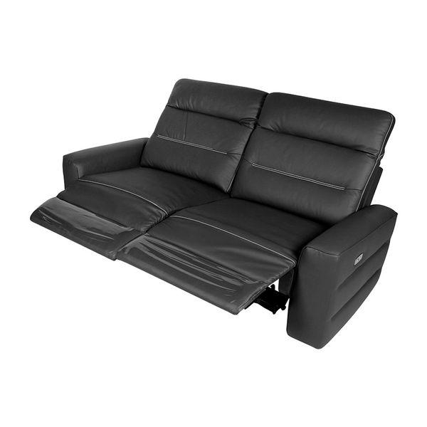 Sofa-2-Puestos-Recli-Elect-Sweden-Cuero-Pvc-Negro-Cost-Gris