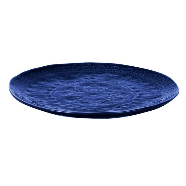 Plato-Principal-Mandala-255-255-25Cm-Ceramica-Azul-------