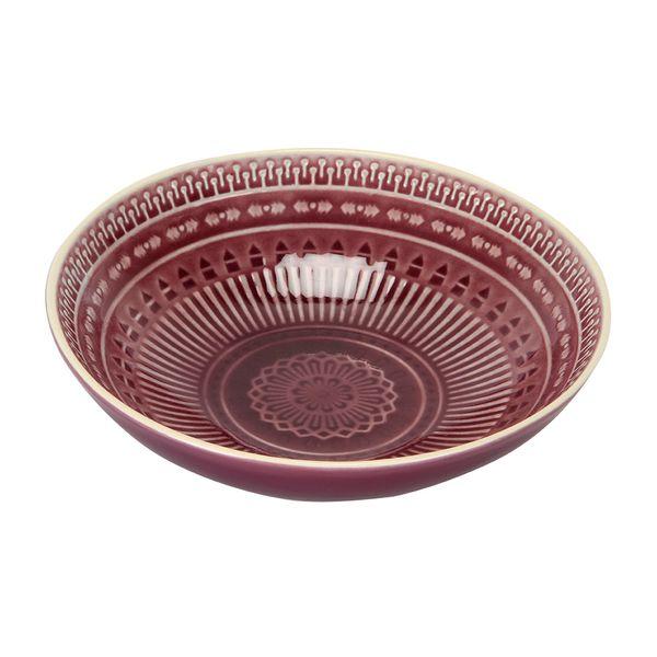 Plato-Hondo-Mandala-18-18-5Cm-Ceramica-Morado---------------