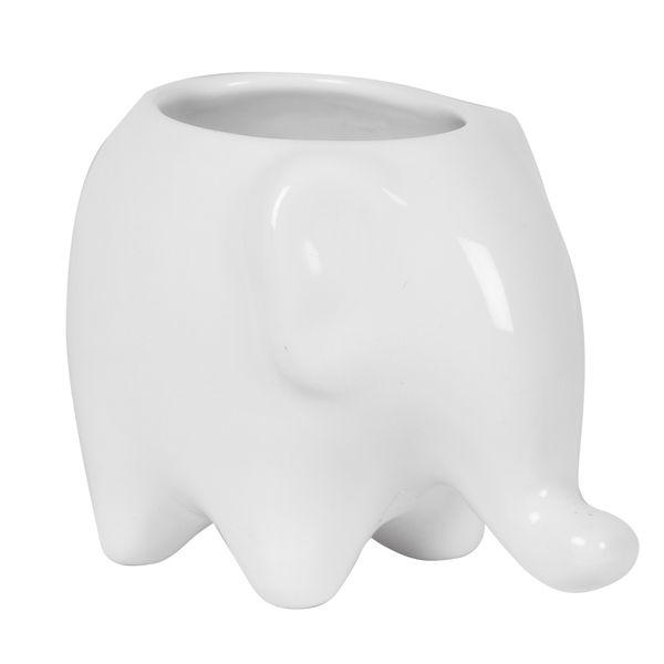 Matera-Elefante-12-9-11Cm-Ceramica-Blanca-------------------