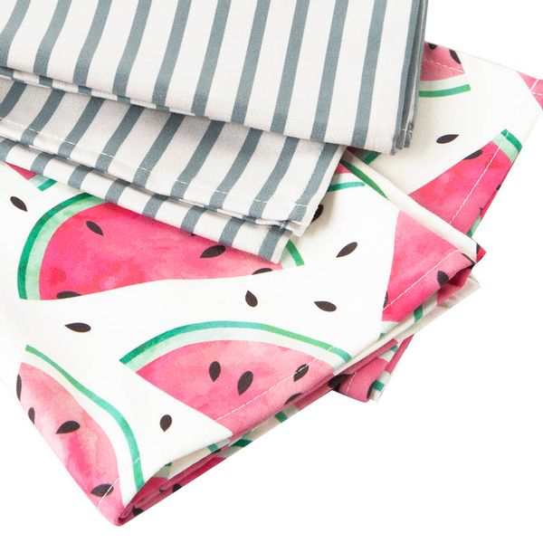 Set-2-Limpiones-Stripes---Vermelhas-C1-45-65Cm-Poliester----
