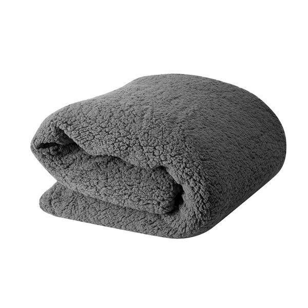 Manta-Tejido-Ovejero-Doble-Faz-160-230Cm-Poliester-Gris-----