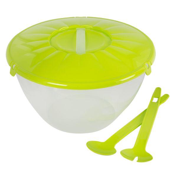 Ensaladera-Spinner-Fitgreen--30-30-18Cm-Platico-Verde-------