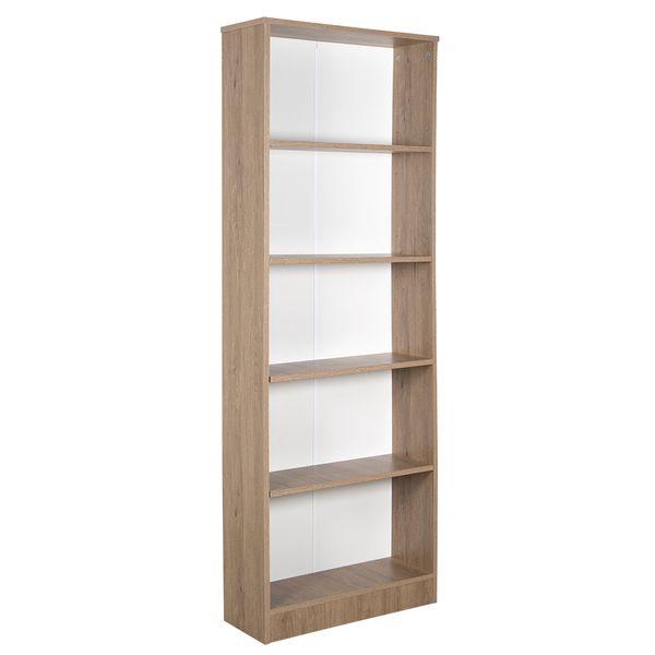 Biblioteca-5-Repisas-Bookie-64-24-175Cm-Lam-Gris------------
