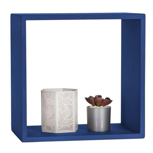 Repisa-Cubo-30-20-30Cm-Madera-Azul-Oscuro-------------------