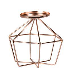 Candelabro-Hexagonal-Wire-C18-16.5-16.5-16Cm-Metal-Cobre----