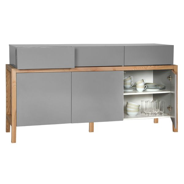 Buffet-Emilia-167-53-91Cm-Highgloss-Gris--Roble-Natural-----