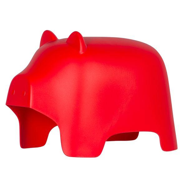 Puff-Niños-Piggy-Plastico-Rojo--------------------------