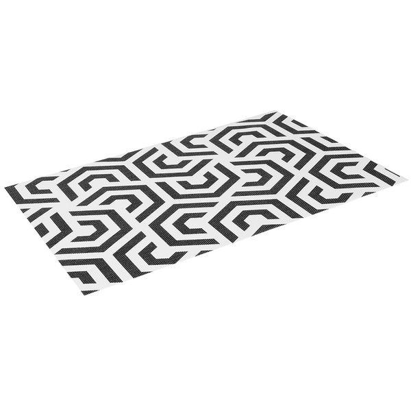 Individual-Geometrico-44-29Cm-Plastico-Negro----------------