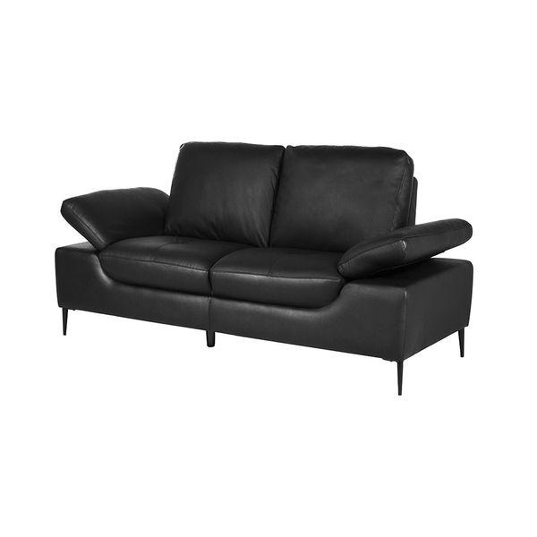 Sofa-2-Puestos-Julius-Cuero-Pvc-Negro----------