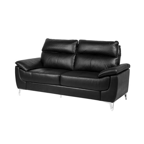 Sofa-2-Puestos-Marruecos-Cuero-Pvc-Negro--------------------