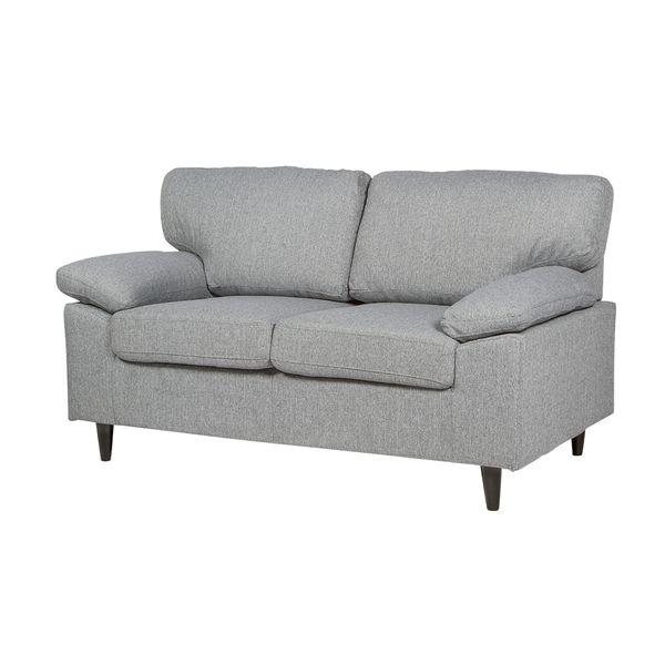 Sofa-2-Puestos-Lansing-Tela-Portland-Gris-Claro-------------