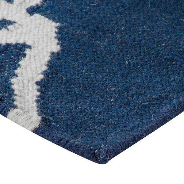Tapete-Rectangular-Mosaico-B--60-150Cm-Lana-Azul-Blanco-----