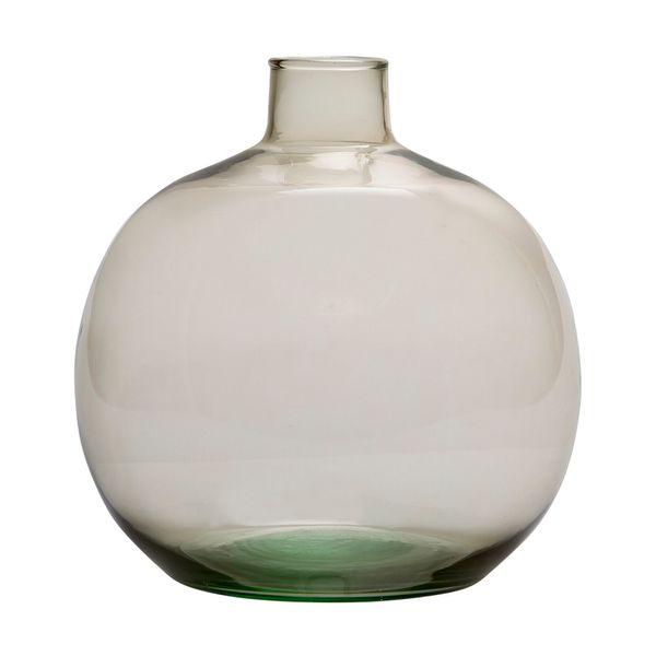 Botella-Okaido-23-23-24Cm-Vidrio-Crema-Moka-----------------