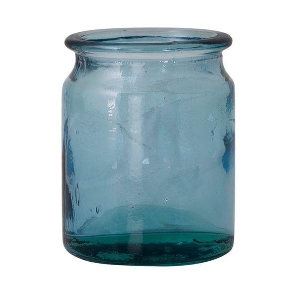 Botella-Pot-Garden-12.5-12.5-16Cm-Vidrio-Azul-Cielo---------