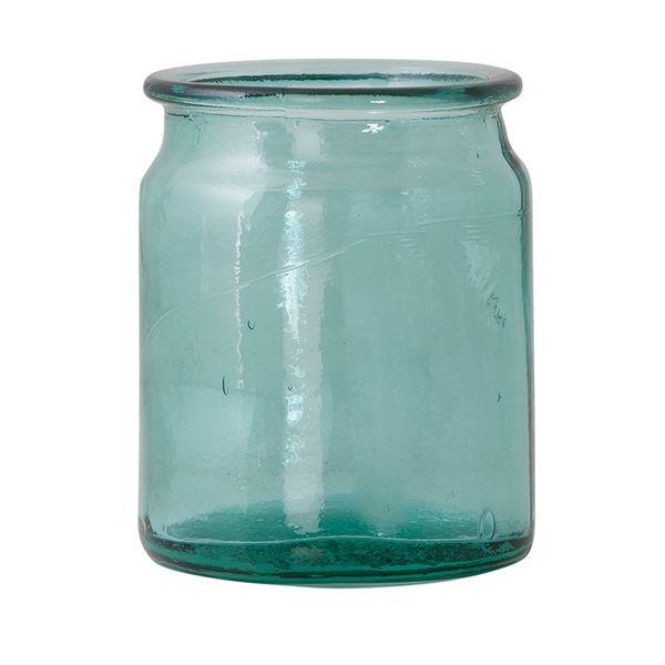 Botella-Pot-Garden-12.5-12.5-16Cm-Vidrio-Azul-Celeste-------