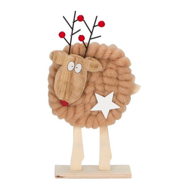 Navidad-C18-Reno-Fluffy-12-19Cm-Madera-Caf-----------------