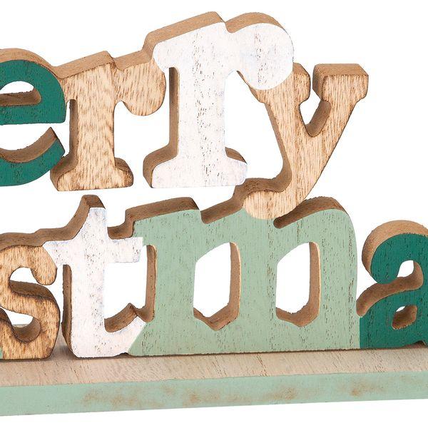Navidad-C18-Letrero-Merry-Christmas-32-13Cm-Madera-Nat-Verde