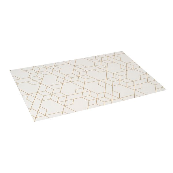 Individual-Geometrico-44-29-1Cm-Pvc-Tela-Blanco-Dorado------