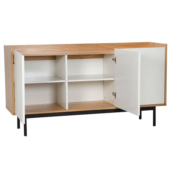 Buffet-Niva-150-40-80-Mad-Roble-Natural-Blanco-Base-Negra---