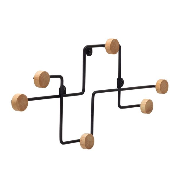 Perchero-Pared-Subway-47-3-22Cm-Metal-Negro-----------------