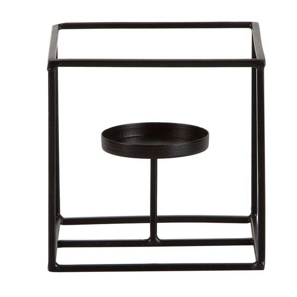 P-Vela-Cube-13-13-12.5Cm-Metal-Negro------------------------