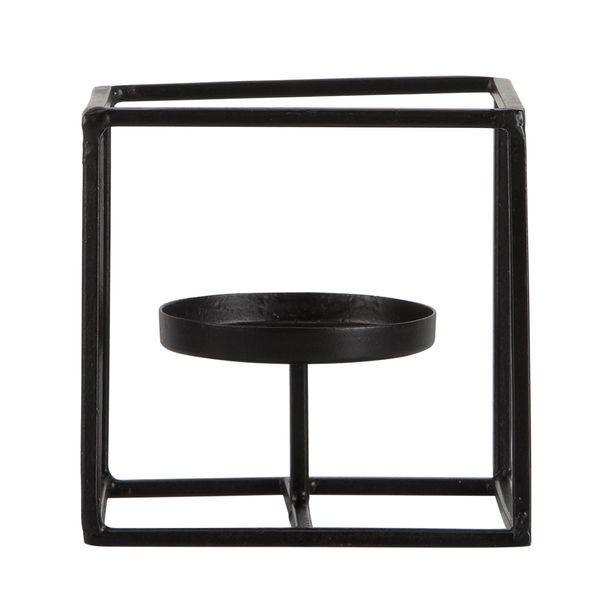P-Vela-Cube-10-10-10Cm-Metal-Negro--------------------------