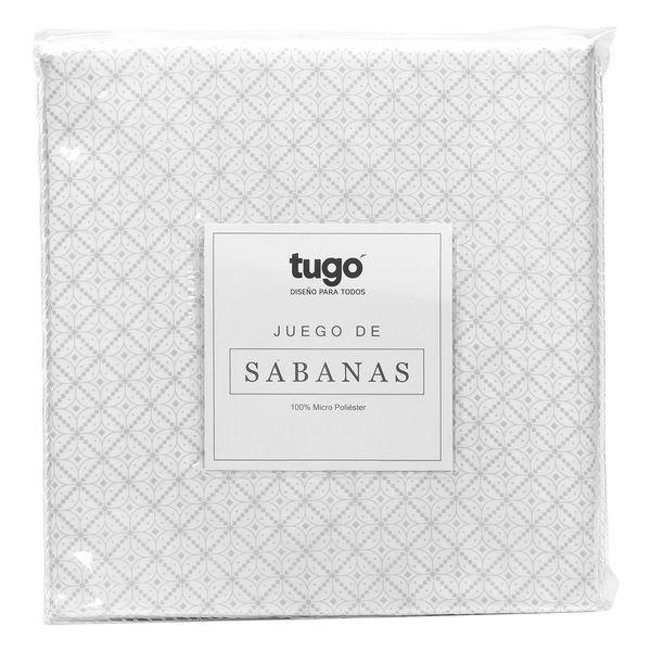 Juego-De-Sabanas-Doble-Printed-100Gr-100--Microfibra-Gris